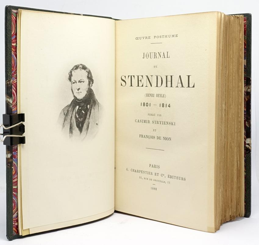 Journal de Stendhal (Henri Beyle). 1801-1814